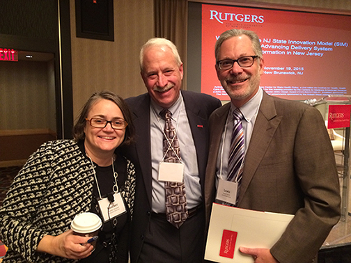 From left to right: Heather Howard, Joel C. Cantor, and Lewis Sandy, MD.